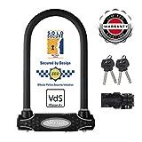 MASTER LOCK Bügelschloss [Schlüsselschloss] [mit Halterung] [Zertifiziertes Fahrrad Schloss - Secure-Gold-Zertifikat] 8195EURDPRO - Ideal für Fahrräder