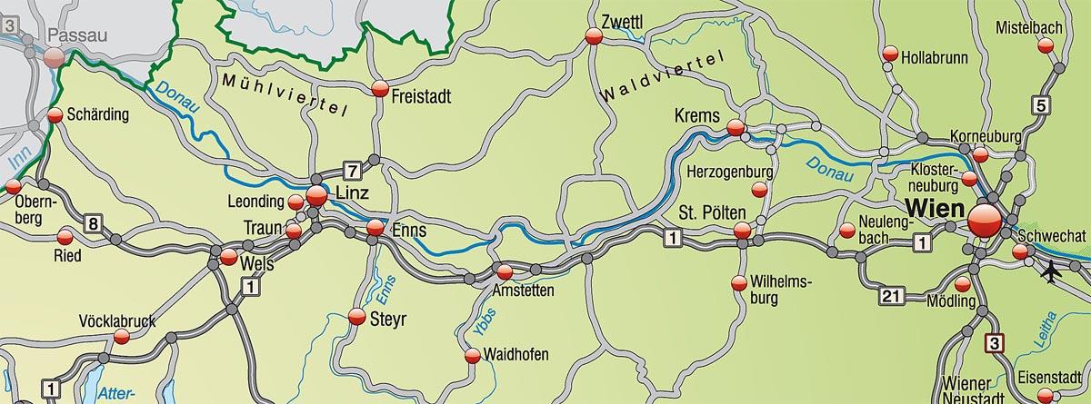 Fahrradtour Passau nach Wien
