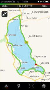 Radtour Tegernsee Überblick